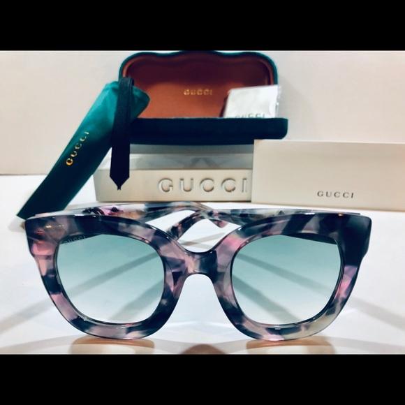 dfc24219986 Gucci Sunglasses Pink Havana w  Gray Gradient Lens